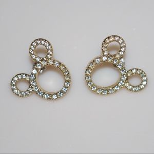 Disney Mickey Mouse Ears Rhinestone Earrings
